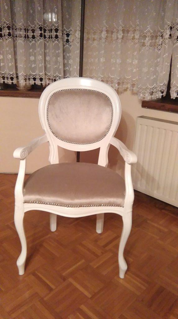 Krzesło styl włoski z podłokietnikami